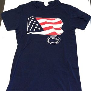 Penn State University red white blue PA shirt sz s